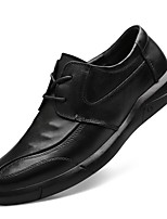 cheap -Men's Comfort Shoes Nappa Leather Fall & Winter Oxfords Black