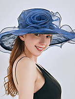 cheap -Queen Elizabeth Audrey Hepburn Retro Vintage Kentucky Derby Hat Fascinator Hat Women's Organza Costume Hat Black / Light Purple / Burgundy Vintage Cosplay Party Party Evening