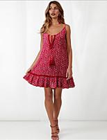 cheap -Women's Elegant Sheath Dress - Geometric Blue Red S M L XL