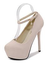 cheap -Women's Heels Stiletto Heel Round Toe Synthetics Sweet / British Fall / Spring & Summer Black / Nude / Party & Evening