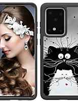 cheap -Case For Samsung Galaxy Galaxy S10 / Galaxy S10 Plus / Galaxy S10 E Shockproof / Pattern Back Cover Cat TPU / PC