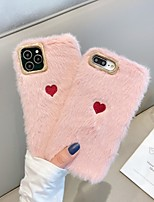 cheap -Case For Apple iPhone 11 / iPhone 11 Pro / iPhone 11 Pro Max Shockproof Back Cover Heart / Solid Colored / Plush TPU