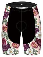 cheap -21Grams Men's Women's Cycling Shorts Bike Pants / Trousers Padded Shorts / Chamois Bottoms Breathable 3D Pad Quick Dry Sports Floral Botanical Black / Pink Mountain Bike MTB Road Bike Cycling