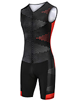 cheap -21Grams Women's Sleeveless Triathlon Tri Suit Black / Red Dot Bike Clothing Suit UV Resistant Breathable Quick Dry Sweat-wicking Sports Dot Mountain Bike MTB Road Bike Cycling Clothing Apparel