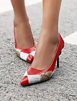 cheap -Women's Heels Stiletto Heel Pointed Toe PU Spring &  Fall Light Yellow / Red