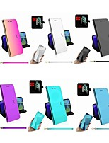 cheap -Case For Motorola Moto G8 Plus / Moto E6 Plus / Moto E6 Play Wallet / Card Holder / with Stand Full Body Cases Mirror Solid Colored PU Leather / TPU for Moto E6 / Moto G7 Power / Moto G7 Plus