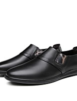 cheap -Men's Comfort Shoes Cowhide Fall & Winter Loafers & Slip-Ons Black / Brown