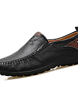 cheap -Men's Comfort Shoes PU Fall & Winter Loafers & Slip-Ons Black / Orange / Yellow