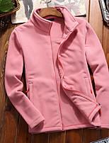cheap -Women's Hiking Fleece Jacket Winter Outdoor Windproof Fleece Lining Warm Comfortable Jacket Winter Fleece Jacket Top Fleece Single Slider Climbing Camping / Hiking / Caving Winter Sports White / Blue