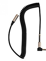 cheap -3.5mm Male to Female Cable Earphone Headphone Audio Extension Cable Extendable Flexible Spring Cord Portable Audio Cable