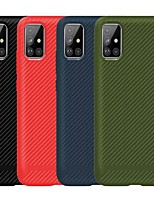 cheap -Case For Samsung Galaxy Galaxy S10 / Galaxy S10 Plus / Galaxy S10 E Shockproof Back Cover Solid Colored TPU / Carbon Fiber