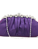cheap -Women's Tassel / Embossed Polyester / Silk Evening Bag Solid Color Purple / Blushing Pink / Fuchsia