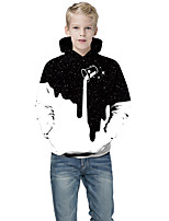 cheap -Kids Boys' Active Punk & Gothic Color Block 3D Paisley Long Sleeve Hoodie & Sweatshirt White