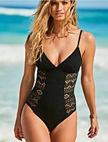 cheap -Women's Black Wine White Bikini Swimwear - Solid Colored S M L Black