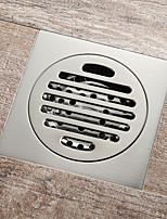cheap -Square 10x10cm Brass Brushed Floor Drain Bathroom Toilet Anti-odor Drain