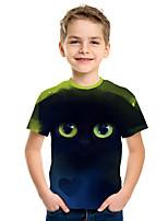 cheap -Kids Boys' Active Street chic 3D Print Short Sleeve Tee Navy Blue