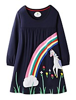 cheap -Kids Girls' Animal Dress Blue