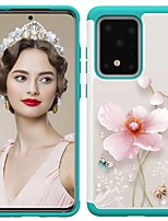 cheap -Case For Samsung Galaxy S20 / S20 Plus / S20 Ultra Shockproof / Pattern Back Cover Pearl Flower TPU / PC for A50(2019) / A40(2019) / A30(2019) / Note 10 Pro