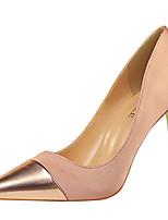 cheap -Women's Heels Stiletto Heel Pointed Toe Synthetics Sweet / British Fall / Spring & Summer Black / Almond / Silver