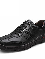 cheap -Men's Comfort Shoes Cowhide Spring & Summer / Fall & Winter Business / Classic Oxfords Non-slipping Black / Brown