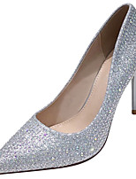 cheap -Women's Wedding Shoes Stiletto Heel Pointed Toe Rhinestone Synthetics Sweet / British Fall / Spring & Summer Gold / Silver / Party & Evening