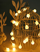 cheap -1.5m String Lights 10 LEDs 1pc Warm White Valentine's Day / Christmas Party / Decorative / Holiday AA Batteries Powered