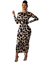 cheap -Women's Elegant Sheath Dress - Solid Colored Black Yellow Brown S M L XL