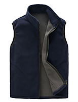 cheap -Men's Hiking Fleece Vest Winter Outdoor Windproof Fleece Lining Warm Comfortable Vest / Gilet Jacket Top Fleece Single Slider Climbing Camping / Hiking / Caving Winter Sports Black / Army Green / Red