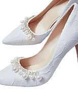 cheap -Women's Wedding Shoes Stiletto Heel Pointed Toe PU Spring &  Fall White / Red