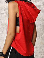 cheap -Women's Yoga Top Solid Color Black White Royal Blue Red Yoga Running Fitness Vest / Gilet Sleeveless Sport Activewear Breathable Moisture Wicking Quick Dry Micro-elastic Slim Loose