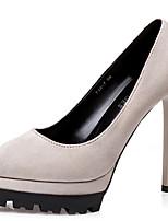 abordables -Femme Chaussures à Talons Talon Aiguille Bout pointu Matière synthétique Doux / Britanique Automne / Printemps été Noir / Vin / Amande / Soirée & Evénement