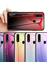 cheap -Case For OPPO OPPO Reno2 / OPPO Reno2 Z / OPPO R11 Plus Shockproof / Ultra-thin Back Cover Color Gradient Tempered Glass
