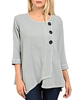cheap -Women's Daily T-shirt - Solid Colored Gray