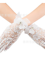 cheap -Gloves Fingertips Satin For Bride Cosplay Halloween Carnival Women's Costume Jewelry Fashion Jewelry