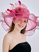 cheap -Queen Elizabeth Audrey Hepburn Retro Vintage Kentucky Derby Hat Fascinator Hat Women's Organza Costume Hat Black / White / Blushing Pink Vintage Cosplay Party Party Evening