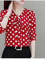 cheap -Women's Daily T-shirt - Polka Dot Black