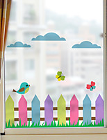 cheap -Color Fence Window Film & Stickers Decoration Matte / Animal Other / Character PVC(PolyVinyl Chloride) Window Sticker / Matte / Door Sticker
