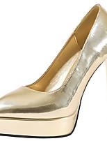 abordables -Femme Chaussures à Talons Talon Aiguille Bout pointu Matière synthétique Doux / Britanique Automne / Printemps été Noir / Champagne / Dorée / Soirée & Evénement