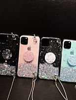 cheap -Case For Apple iPhone 11 / iPhone 11 Pro / iPhone 11 Pro Max with Stand / Flowing Liquid Back Cover Glitter Shine TPU