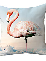 cheap -Set of 1 Polyester Pillow Cover Little Qingxin Flamingo Pillow Case INS Nordic Cute Girl Heart Bedside Living Room Sofa Cushion Pillow