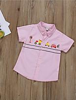 cheap -Kids Boys' Basic Geometric Short Sleeve Shirt White