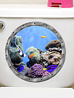 cheap -Submarine fish Toilet Seat Wall Sticker Vinyl Art WC Pedestal Pan Cover decals Removable Bathroom Decals Home Decoration Wall Stickers