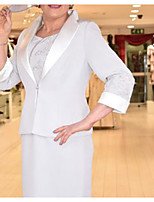 cheap -3/4 Length Sleeve Charmeuse Wedding Women's Wrap With Appliques Coats / Jackets