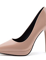 cheap -Women's Heels Stiletto Heel Pointed Toe Synthetics Sweet / British Fall / Spring & Summer Black / Wine / Almond / Party & Evening