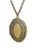 cheap -Men's Women's Pendant Necklace Lockets Necklace Necklace Classic Box Classic Vintage Trendy Chrome Ancient Bronze 50 cm Necklace Jewelry 1pc For Street