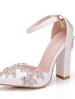 cheap -Women's Wedding Shoes Chunky Heel Pointed Toe PU Spring & Summer White / Rainbow
