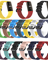 cheap -Watch Band for Fitbit Charge 4 Fitbit Modern Buckle Silicone Wrist Strap