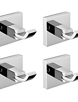 cheap -Rustproof SUS304 Stainless Steel Hand Mirror Polishing Bathroom Accessories Robe Hooks High Quality Pack 4 Q5-4