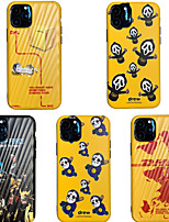 cheap -Case For Apple iPhone 11 / iPhone 11 Pro / iPhone 11 Pro Max Shockproof / IMD / Ultra-thin Back Cover Solid Colored / Cartoon PC