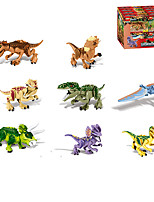 cheap -Building Blocks 16 pcs Jurassic Dinosaur Dinosaur compatible Legoing Simulation All Toy Gift / Kid's